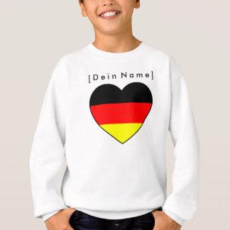 Eigener Name Fussball Deutschland Pullover Herz
