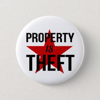 Eigentum ist Diebstahl - Runder Button 5,7 Cm