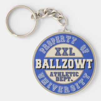 Eigentum von Ballzowt Universität königlich Schlüsselanhänger