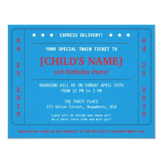 EilBahnfahrkarte-Einladung 10,8 X 14 Cm Einladungskarte