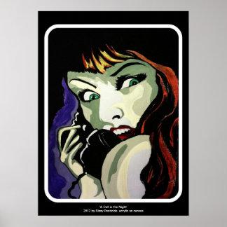 """""""Ein Anruf in der Nacht"""" Plakat"""