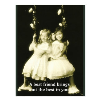 Ein bester Freund bringt das Beste in Ihnen heraus Postkarte