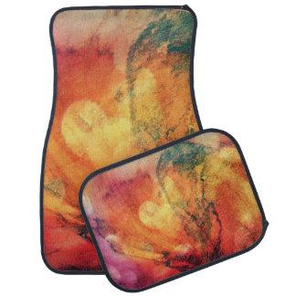 Ein Blatt in der hölzernen Herbst-Kunst abstrakt Auto Fussmatte