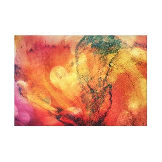 Ein Blatt in der hölzernen Herbst-Kunst abstrakt Galerie Faltleinwand