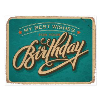 Ein blauer Geburtstag Postkarte