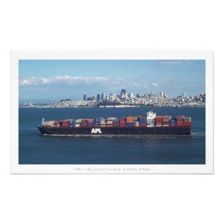 """""""Ein Boot, eine Bucht und San Fran weg,"""" Kunst Fotos"""