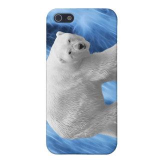 Ein Eisbär am gefrorenen Wasserfall Schutzhülle Fürs iPhone 5