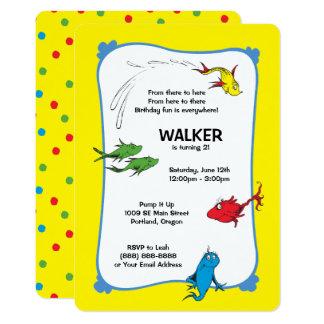 Ein Fisch zwei Fische - erster Geburtstag 12,7 X 17,8 Cm Einladungskarte