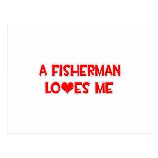 Ein Fischer-Lieben ich Postkarte