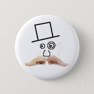Ein Fleisch-Schnurrbart-Knopf Runder Button 5,1 Cm