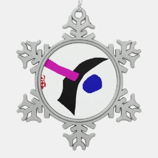 Ein Fremder Schneeflocken Zinn-Ornament