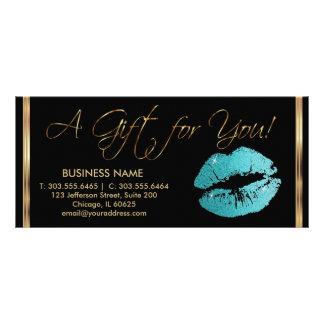 Ein Geschenk-Zertifikat-hübsches aquamarines Werbekarte