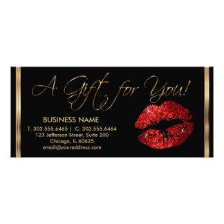 Ein Geschenkgutschein-rotes Lippenstift-Geschäft 2 Werbekarte