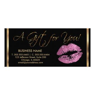 Ein Geschenkgutschein-so Rosa-Lippenstift-Geschäft Werbekarte