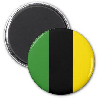 Ein greller Schlag der jamaikanischen Farben Runder Magnet 5,1 Cm