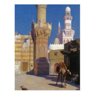 Ein heißer Tag in Kairo (Front der Moschee) durch Postkarte