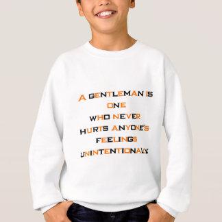 Ein Herr ist einer, wer nie jedermann verletzt Sweatshirt