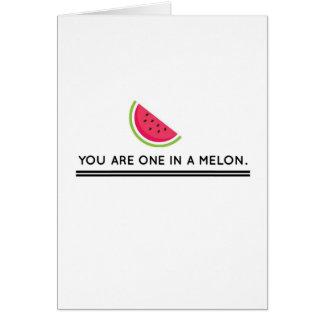 Ein in einer Melone Karte
