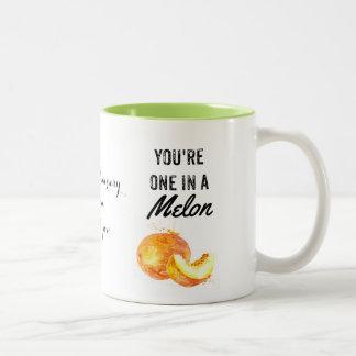 ein in einer Melone, Valentine, Jahrestag, Zweifarbige Tasse