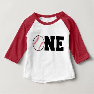 Ein jähriger Baseball-Shirt-Geburtstag Baby T-shirt