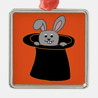Ein Kaninchen im Hut Silbernes Ornament