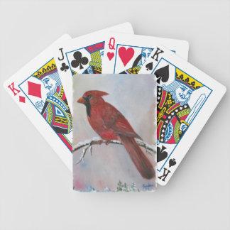 Ein Kardinal für Weihnachten Bicycle Spielkarten