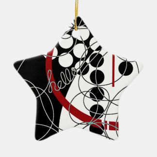 Ein konträres hallo keramik Stern-Ornament