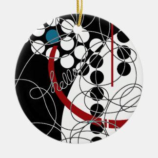 Ein konträres hallo rundes keramik ornament
