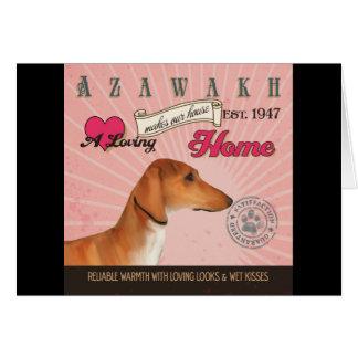 Ein liebevolles Azawakh macht unser Haus-Zuhause Karte