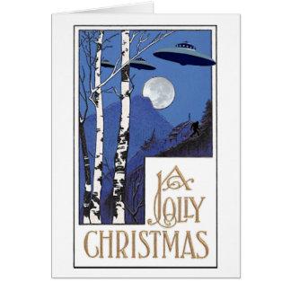 Ein lustiges Weihnachten Mitteilungskarte