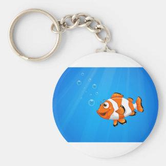 Ein Meer mit einem nemo Fisch Schlüsselanhänger