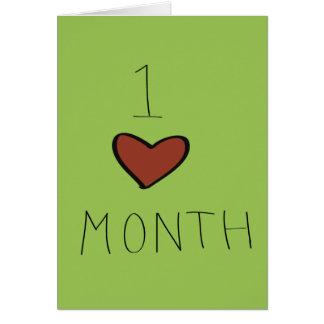Ein Monats-Jahrestag Grußkarte