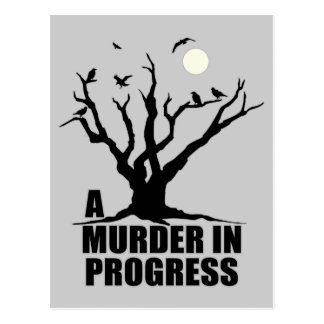 Ein Mord laufend Postkarte