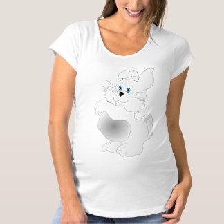 Ein niedlicher weißer Osterhasen-Cartoon Umstands-T-Shirt