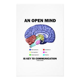 Ein offener Verstand ist Schlüssel zur Büropapier