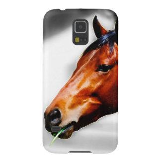 Ein Pferd und ein Grashalm Samsung Galaxy S5 Hülle