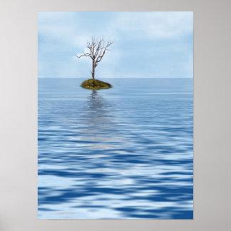 Ein Plakat des Baum-(Farbe)