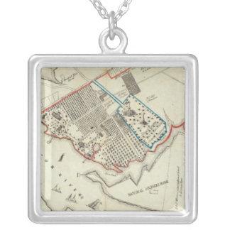 Ein Plan des Eigentums des HamptonNormal Versilberte Kette