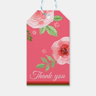 ein reizendes Rosenrosa danken Ihnen zu Geschenkanhänger
