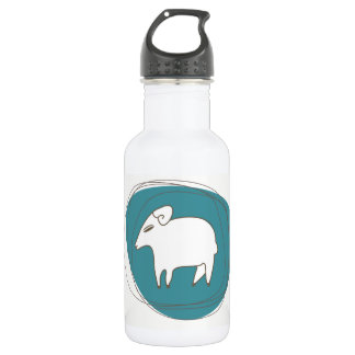 Ein Schaf in den Ovalen Edelstahlflasche