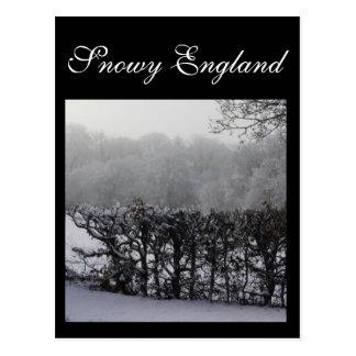 Ein schneebedecktes England Postkarte