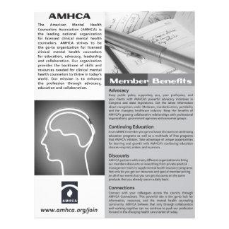 Ein Seiten-Schwarzweiss-Mitgliedschafts-Flyer Flyer