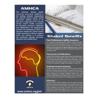 Ein Seiten-Studenten-Mitgliedschafts-Flyer Flyer