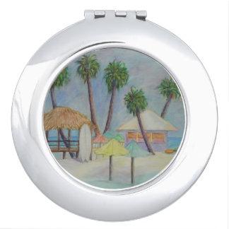 Ein SOMMER-PLATZ Vertrags-Spiegel Taschenspiegel