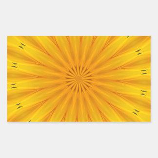 Ein Sonnenblume-Kaleidoskop Rechteckiger Aufkleber