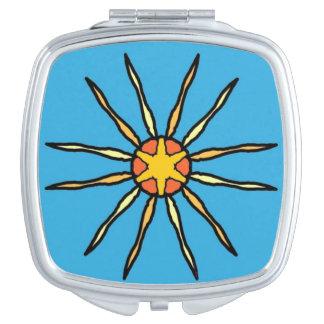 Ein Sonnendurchbruch Taschenspiegel