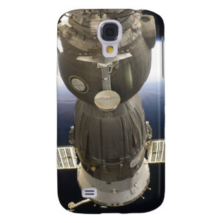 Ein Soyuz Raumfahrzeug backdropped durch Erde Galaxy S4 Hülle