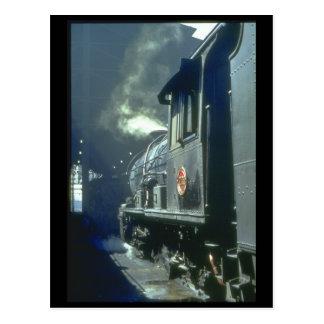 Ein starkes Bild von Dampf at_Steam Zügen Postkarten
