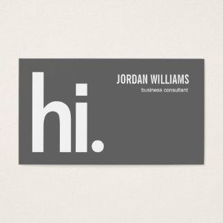 Ein starkes hallo - moderne Visitenkarte - Grau