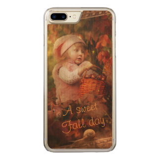 Ein süßer Falltag Carved iPhone 8 Plus/7 Plus Hülle